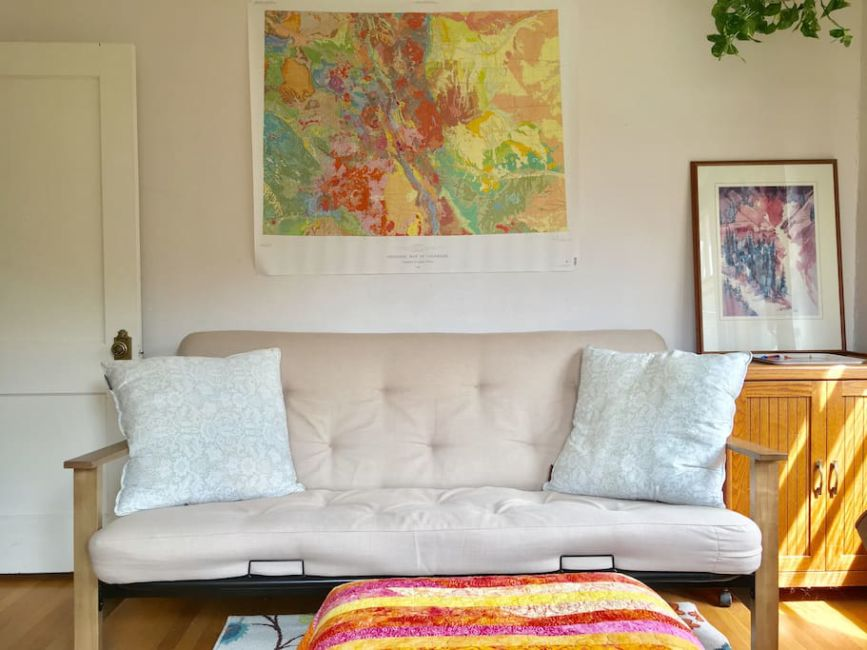sofa-bed-airbnb-denver - Journalist On The Run