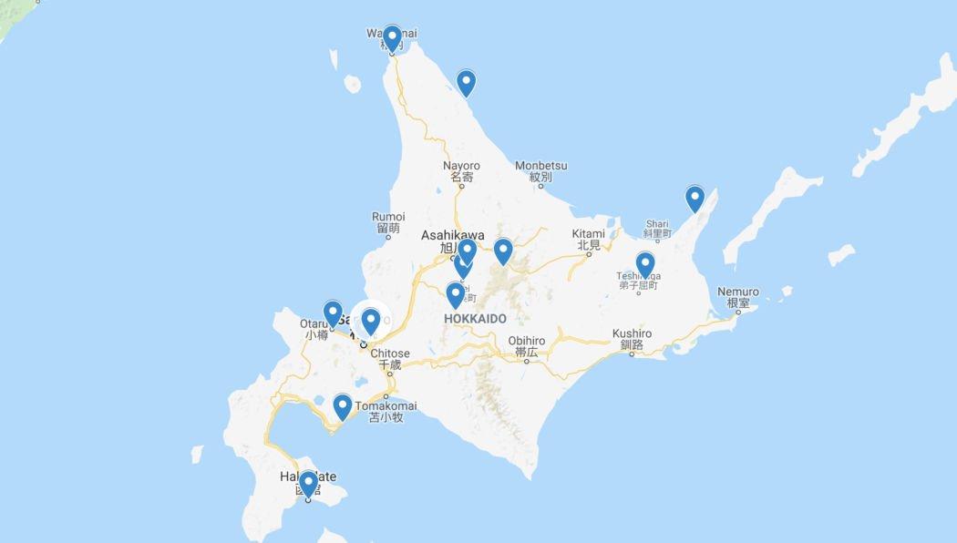hokkaido map attractions