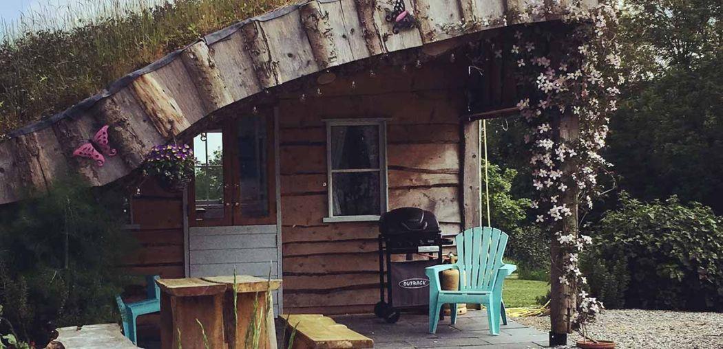 cute luxury camping hut ireland