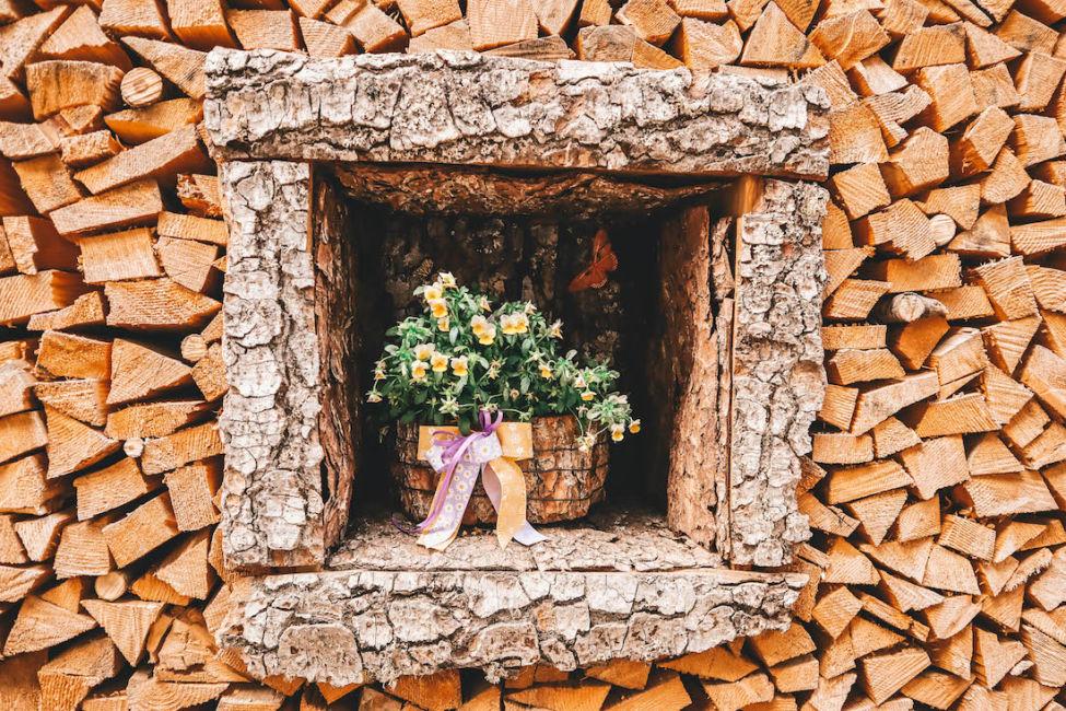 wood piles in mezzano
