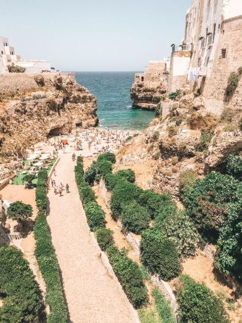 Polignano a mare famous beach