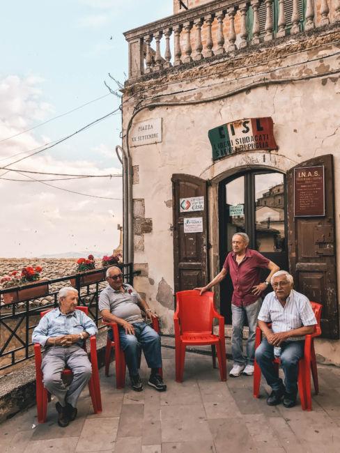 men in Sant'Agata di Puglia
