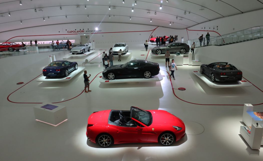 collection of Ferrari cars
