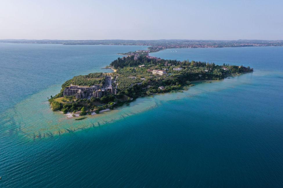 lake garda drone image