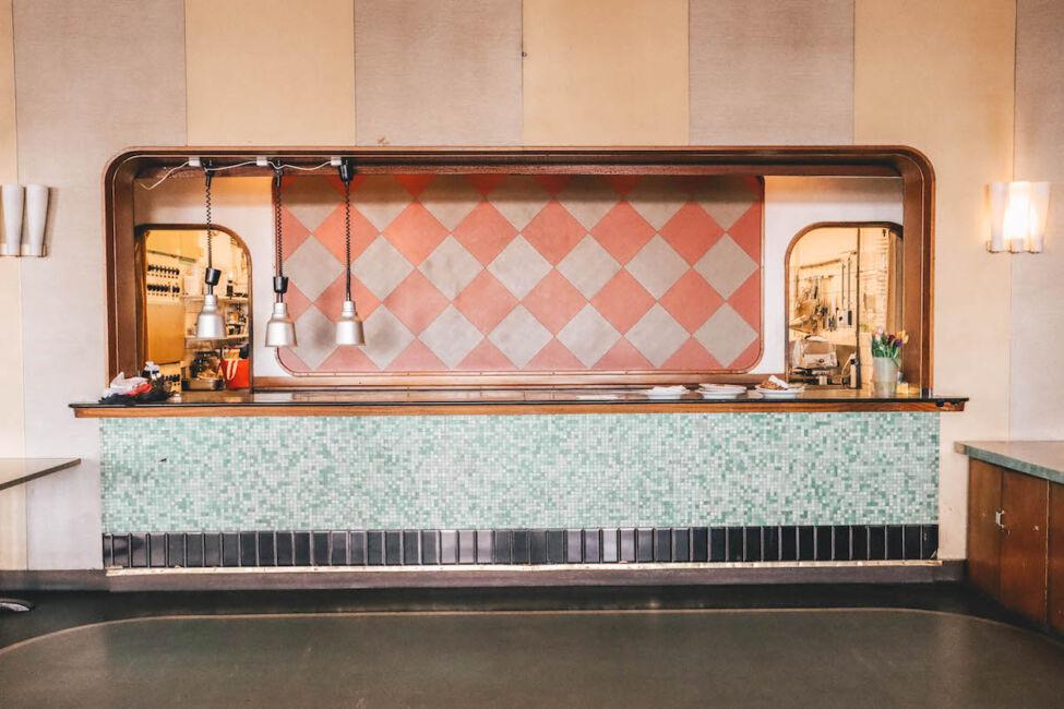 cool 1950s restaurant