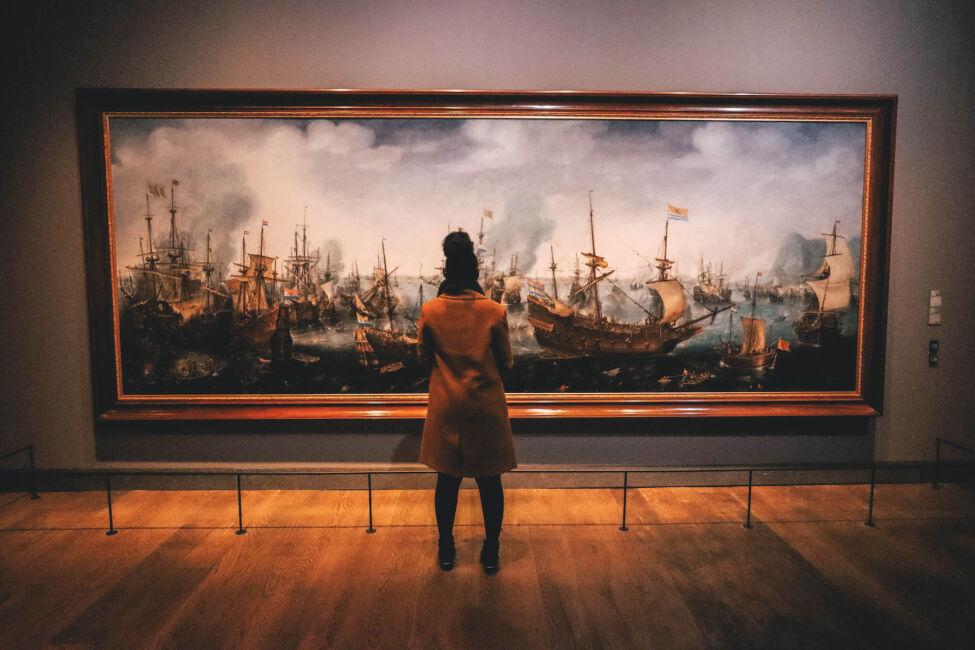 paintings inside maritime museum