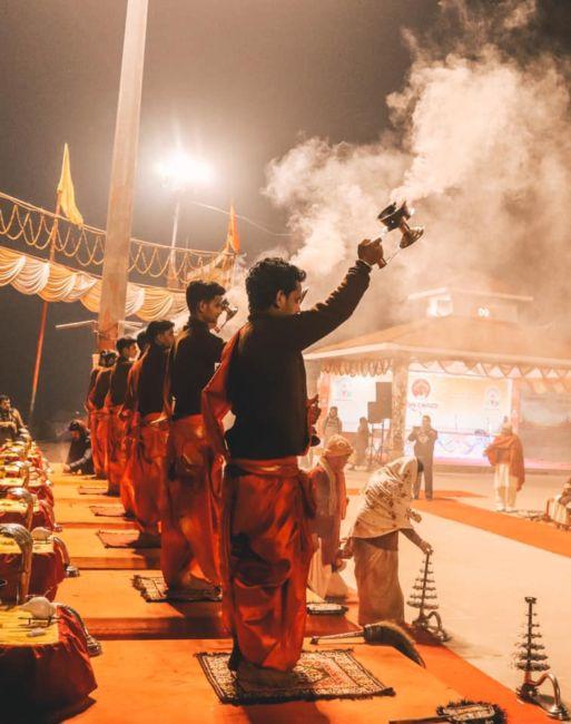 Aarti ceremony in varanasi