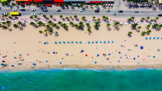 drone photo of fort lauderdale