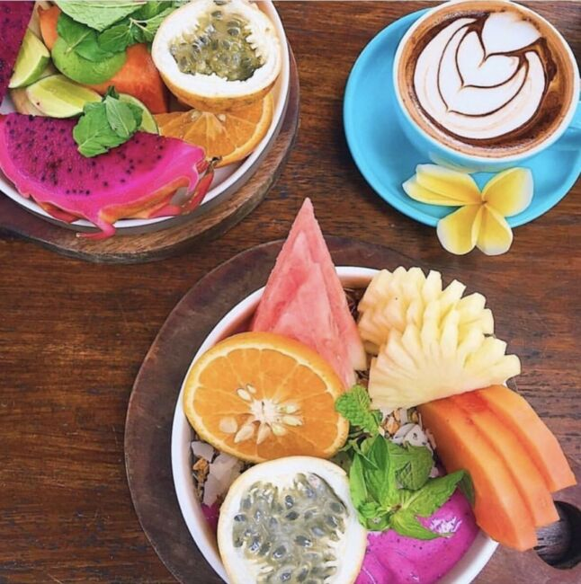 colourful smoothie bowls
