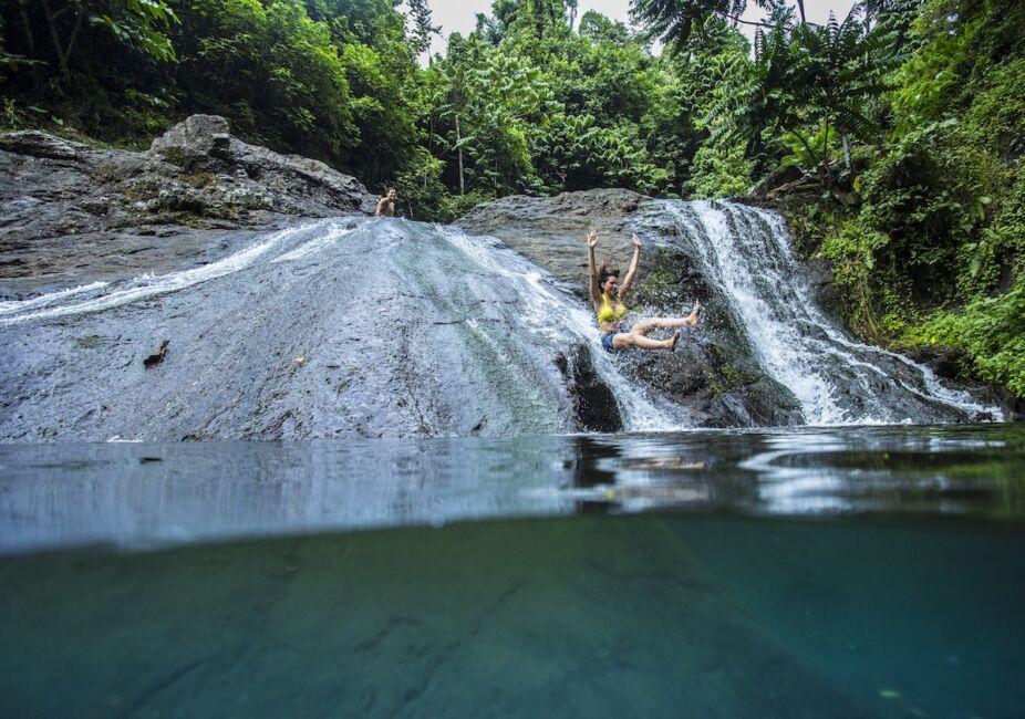 sliding rocks in samoa